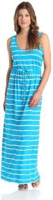 Chaus Women's Sleeveless Wave Stripe Maxi Dress