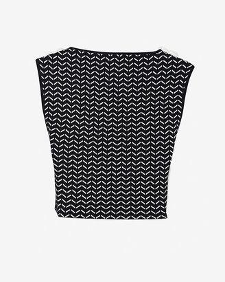 Ohne Titel Chevron Pattern Knit Crop Top