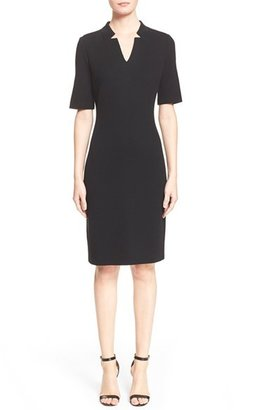 Women's St. John Collection Elbow Sleeve Pique Milano Knit Dress $895 thestylecure.com