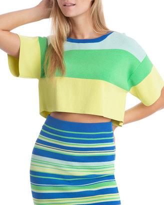 Boxy Wide Stripe Sweater Tee