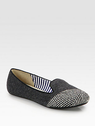 Charles Philip Shanghai Sarah Wool & Tweed Smoking Slippers