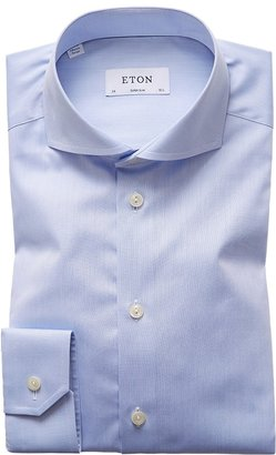 Eton Sky Blue Extreme Cut Away Shirt - Super Slim Fit