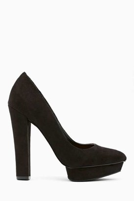 Nasty Gal Shoe Cult Echelon Platform Pump - Black