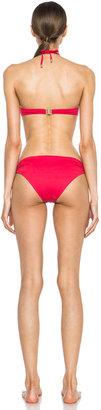 Chloé Polyamide-Blend Draped Bikini in Red