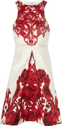 Tibi Floral-print silk-gazar dress