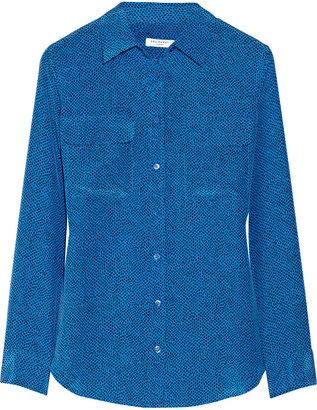Equipment Slim Signature washed-silk shirt