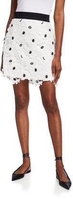 Milly 3D Poppy Lace Mini Skirt