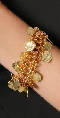 Kenneth Jay Lane Coin Drop Bracelet