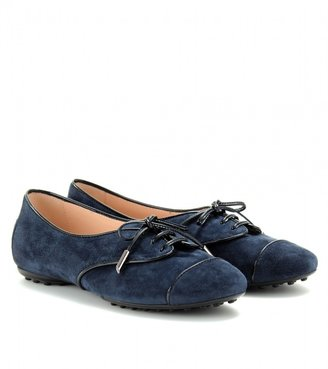 Tod's SUEDE LACE-UP LOAFERS