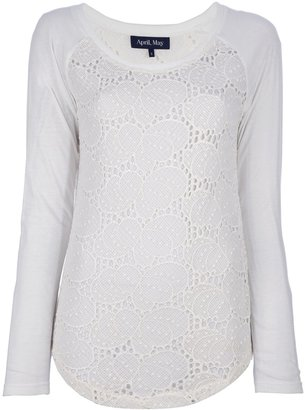 April May long sleeved lace top