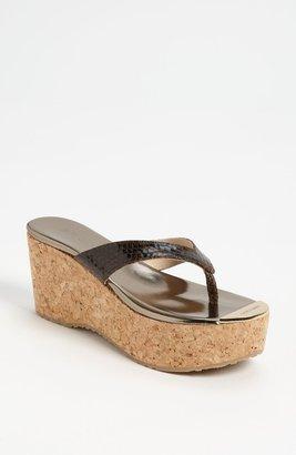 Jimmy Choo 'Pathos' Cork Wedge Sandal