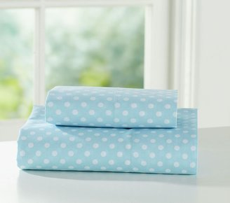 Pottery Barn Kids Organic Mini Dot Sheeting