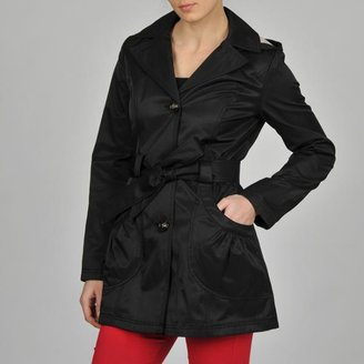 Esprit Women's Ruffle Pocket Belted Hooded Trench $79.99 thestylecure.com