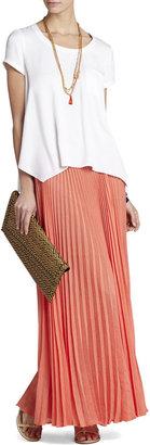 BCBGMAXAZRIA Esten Sunburst Pleated Maxi Skirt