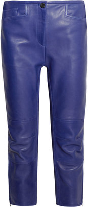 Acne Dust cropped leather skinny pants