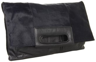 Foley + Corinna Fold-over Clutch (Midnight Pony) - Bags and Luggage