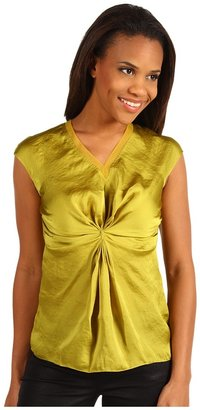 Kenneth Cole New York - Pleated Front Blouse (Lemongrass) - Apparel