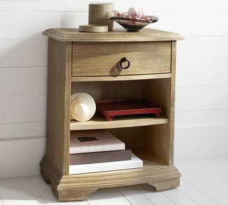 Pottery Barn Curve Front Bedside Table