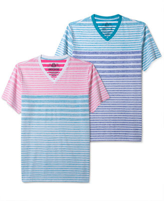 American Rag T-Shirt, Inside-Print Striped Short-Sleeved Tee