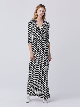 Abigail Maxi Silk Jersey Wrap Dress $598 thestylecure.com