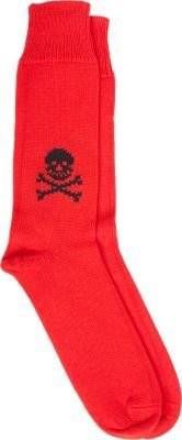 Corgi Skull and Crossbones Mid-Calf Socks