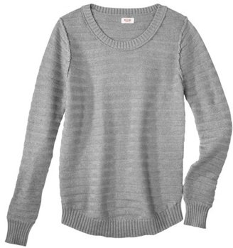 Mossimo Juniors Textured Crewneck Sweater - Assorted Colors