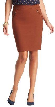 LOFT Petite Zip Pocket Pencil Skirt in Scuba