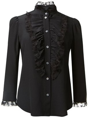 Marc Jacobs ruffled bib blouse