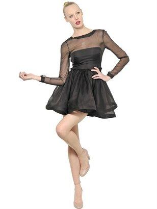 Valentino Techno Couture Wool Silk Organza Dress
