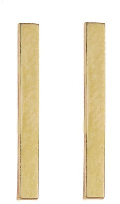 Jennifer Meyer Long Bar Stud Earrings - Yellow Gold