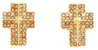 Charlotte Russe Rhinestone Studded Cross Earrings