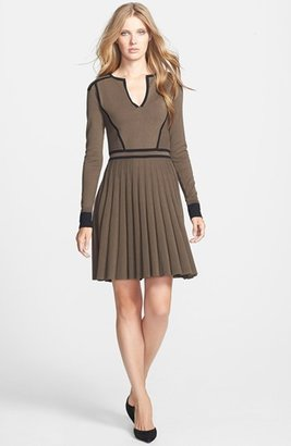 Marc by Marc Jacobs 'Alexis' Contrast Trim Pleat Sweater Dress