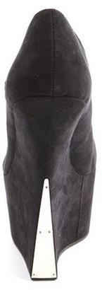 Charlotte Russe Metal Plated Heel-Less Wedge