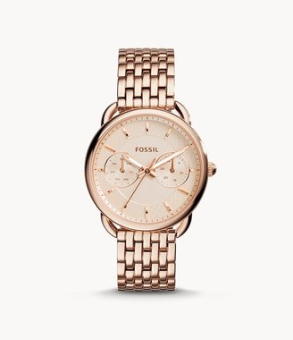 Fossil Tailor Multifunction Rose-Tone Stainless Steel Watch Jewelry
