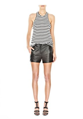 Alexander Wang Lightweight Leather Waistbandless Shorts
