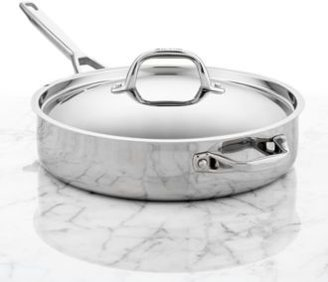 Anolon Tri-Ply Stainless Steel 5 Qt. Covered Saute Pan