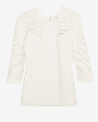 Intermix Exclusive For Perforated Knit Zipper Top