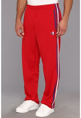 adidas Split Stripe Firebird Track Pant (University Red/Collegiate Royal/White) - Apparel