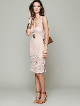 Free People Novelty Knit and Lace Slip