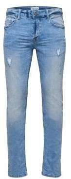 ONLY & SONS Distressed Slim-Fit Jeans