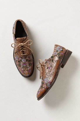 Anthropologie Molina Embroidered Oxfords