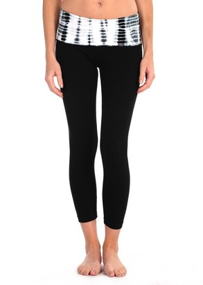 Hard Tail Printed Rollover Legging $73 thestylecure.com