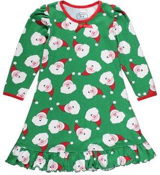 Sara's Prints Girls Puffed L/S Gown (Toddler/Little Kids) (Santa Dot) - Apparel