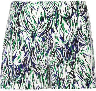 Stella McCartney Printed silk-crepe shorts