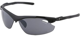 Tifosi Optics Tyranttm 2.0 Interchangeable (Matte Black/Smoke/AC Red/Clear Lens) Athletic Performance Sport Sunglasses