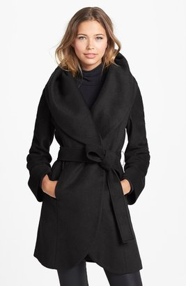 T Tahari Tahari 'Marla' Cutaway Wrap Coat with Oversized Collar (Online Only)