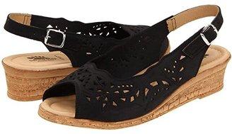 Spring Step Orella (Black Nubuck) Women's Wedge Shoes