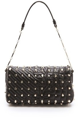 Versace Studded Quilted Leather Bag