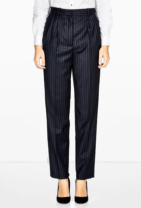 Vanessa Bruno Flanelle Pinstripe Straight Leg Trousers