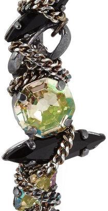 Swarovski VICKISARGE Ruthenium-plated crystal ear cuff